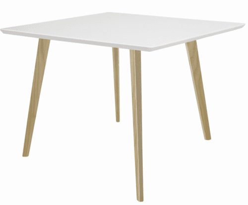 Elite Piazza Square Top Square Wooden Leg Meeting Table - 900 x 900 x 725mm