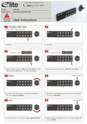 Electronic Keypad Instructions