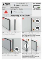 Screen Link Post Assembly Instructions