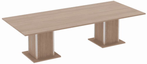 Elite Qube Rectangular Meeting Table with Double Square Base MFC Finish 3200 x 1600 x 740mm