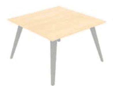 Elite Reflex Square Meeting Table MFC Finish - Square meeting table