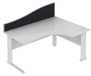 Elite Desk Mounted Wave System Fabric Screen - Width 1773mm