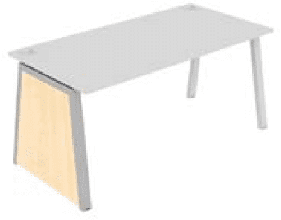 Elite Linnea Single Desk Decorative MFC Slab End & Leg Frame 800mm